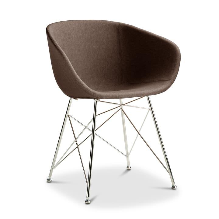 SEDIA Chaise avec accoudoirs 366169300000 Couleur Brun Dimensions L: 45.0 cm x P: 58.0 cm x H: 81.0 cm Photo no. 1