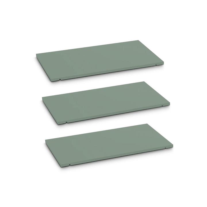 SEVEN Rayon lot de 3 60cm Edition Interio 362019649605 Dimensions L: 60.0 cm x P: 1.4 cm x H: 35.5 cm Couleur Vert Photo no. 1
