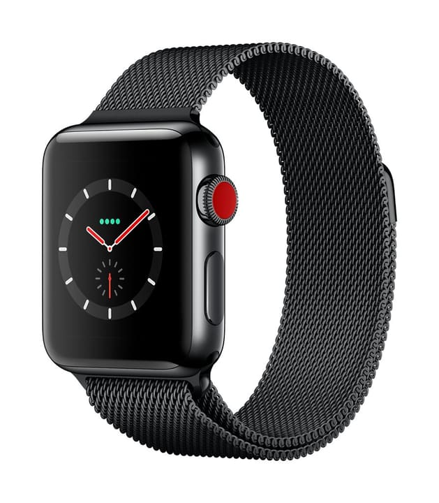 Watch Series 3 GPS/LTE 38mm stainless black/spaceblack milanese Apple 785300129995 Photo no. 1