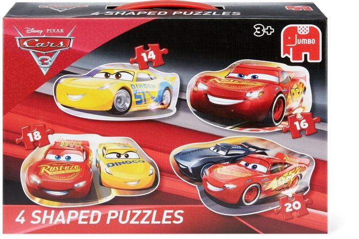 Disney Cars 3 Puzzle, 4 Konturenpuzzles in einem Disney 747429300000 Bild Nr. 1