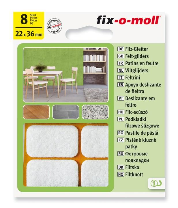 Patins de feutre 3 mm / 36 x 22 mm 8 x Fix-O-Moll 607068800000 Photo no. 1