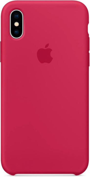 coque iphone x rose silicone