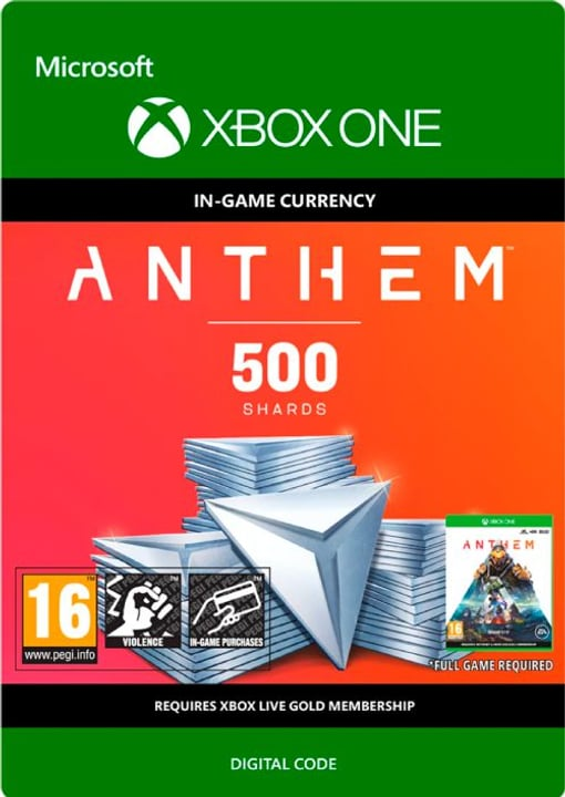 Xbox One - Anthem: 500 Shards Pack Download (ESD) 785300142806 N. figura 1