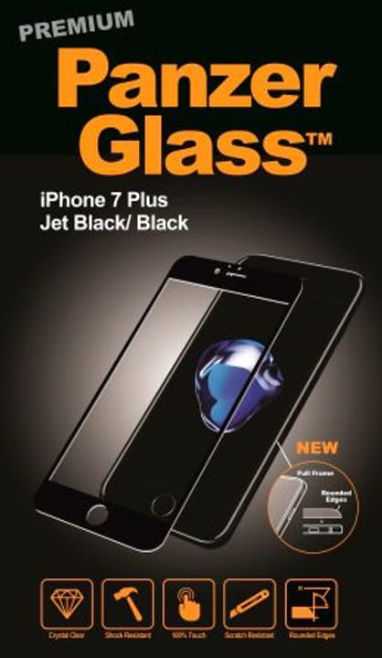 Premium iPhone 7 /8 Plus schwarz Schutzfolie Panzerglass 798065700000 Bild Nr. 1