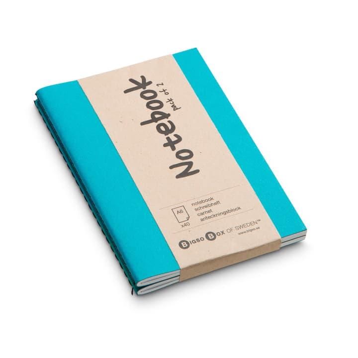 NOTE Carnet 2 pieces A6 386159200000 Couleur Turquoise Dimensions L: 15.0 cm x P: 10.5 cm Photo no. 1