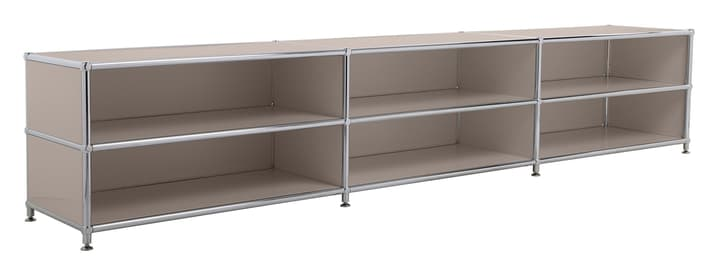 FLEXCUBE Buffet bas 401813730188 Dimensions L: 227.0 cm x P: 40.0 cm x H: 44.5 cm Couleur Gris taupe Photo no. 1