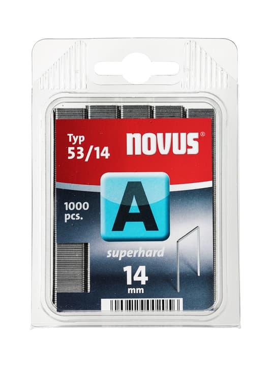 Agrafes en fil fin A Typ 53/14 dur NOVUS 601256100000 Taille 14 mm superhart / 1'000x  Photo no. 1