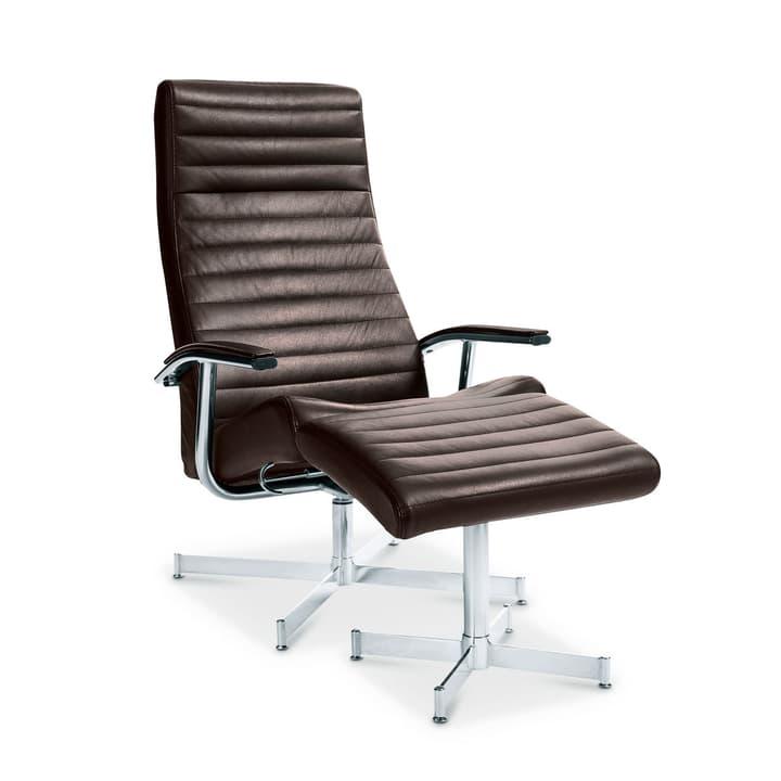 HARVEY Relax-Sessel mit Hocker 360002227027 Grösse B: 64.0 cm x T: 74.0 cm x H: 105.0 cm Farbe Dunkelbraun Bild Nr. 1