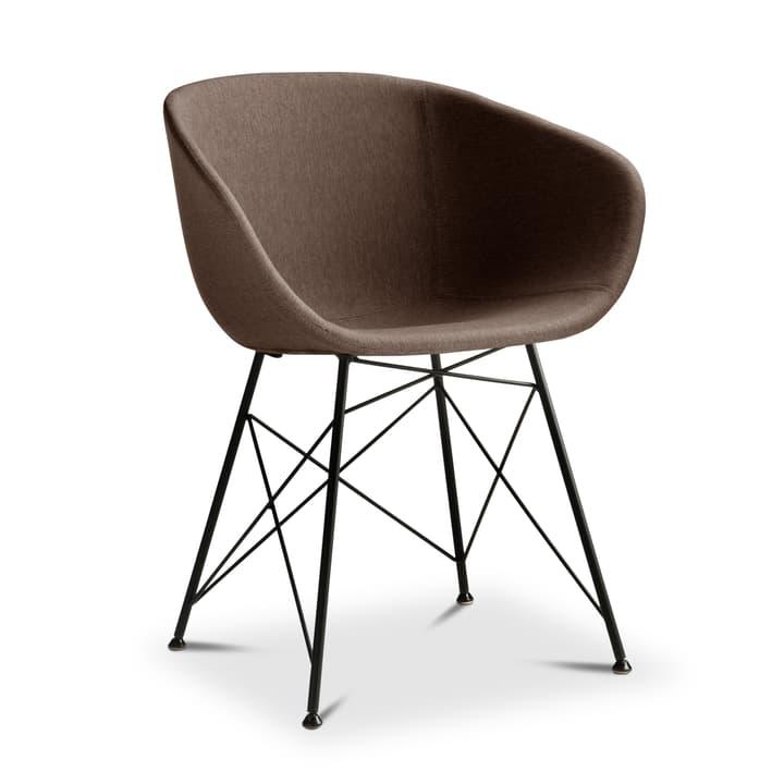 SEDIA Chaise avec accoudoirs 366184000000 Dimensions L: 45.0 cm x P: 58.0 cm x H: 81.0 cm Couleur Brun Photo no. 1