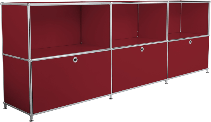 FLEXCUBE Buffet 401809600030 Dimensions L: 227.0 cm x P: 40.0 cm x H: 80.5 cm Couleur Rouge Photo no. 1