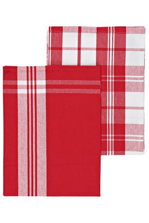 Küchentuch Cucina & Tavola 700360500030 Farbe Rot / Weiss Grösse B: 50.0 cm Bild Nr. 1