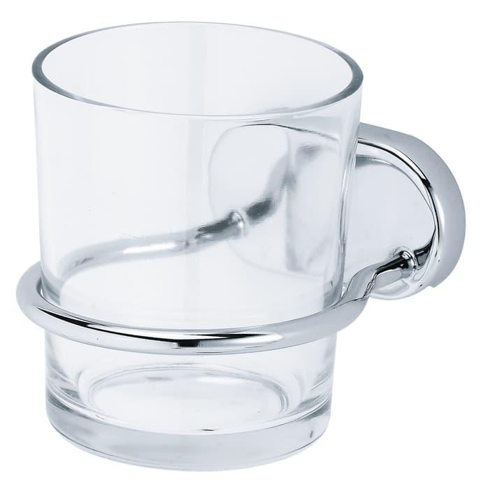 Portabicchiere vetro Lima, cromato Do it + Garden 675130600000 N. figura 1