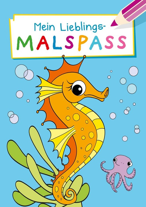 Mein Lieblings-Malspass Seepferdchen Malblock 782491800000 Bild Nr. 1