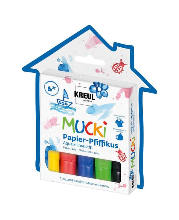 KREUL, Mucki Papier aquarelle, set de 5 666789500000 Photo no. 1