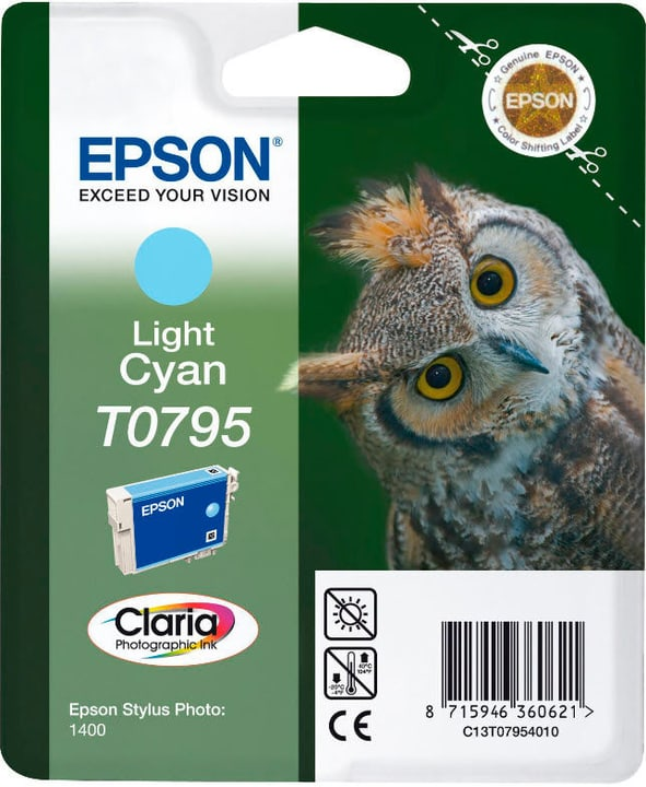 T079540 light Cyan cartuccia d'inchiostro Epson 797584100000 N. figura 1