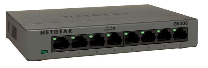 GS308-100PES Gigabit Metallgehäuse Unmanaged Switch (8-Port) Switch Netgear 785300124212 N. figura 1