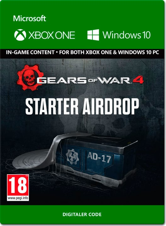 Xbox One - Gears of War 4: Starter Airdrop Download (ESD) 785300137317 N. figura 1
