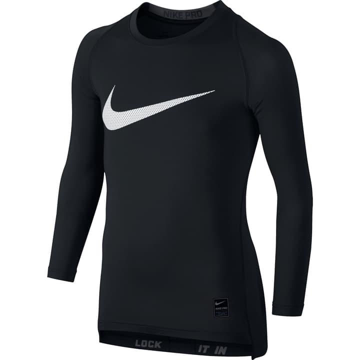 Compression Long-Sleeve Top Maillot à manches longues pour garçon Nike 462827012820 Couleur noir Taille 128 Photo no. 1