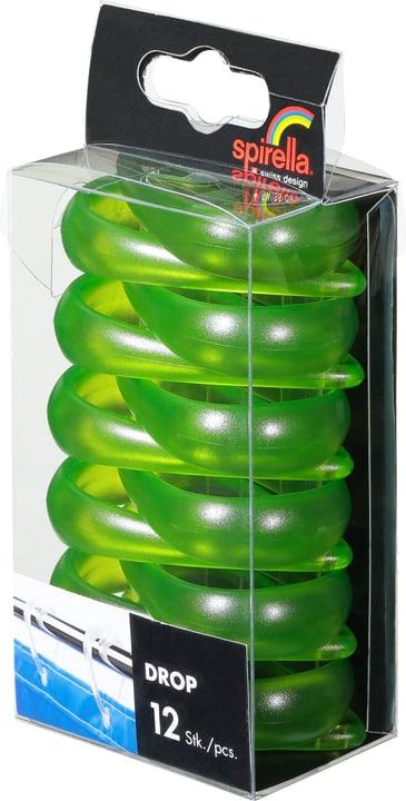 Anneaux de rideau de douche Drop spirella 675853200000 Couleur Clair-Vert Photo no. 1