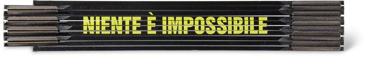 """Klappmeter """"NIENTE È IMPOSSIBILE"""", SCHWARZ/GELB"""" 603689500000 Bild Nr. 1"""