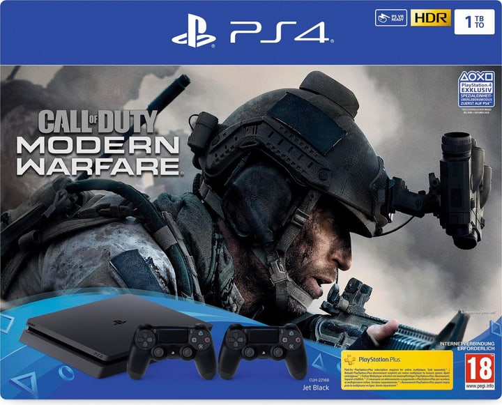 PlayStation 4 1TB inkl. Call of Duty: Modern Warfare + 1 Dualshock Controller Konsole Sony 785444900000 Bild Nr. 1