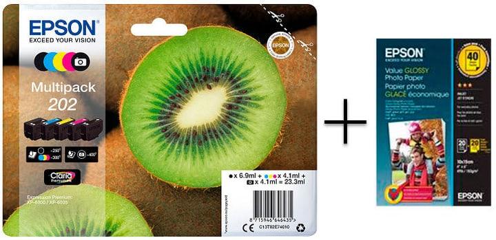202 Multipack cartuccie d'inchiostro + S400044 carta fotografica Epson 798547800000 N. figura 1