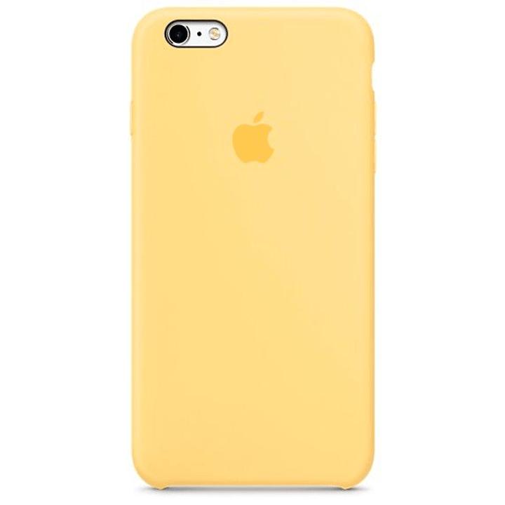 iPhone 6s Plus custodia in silicone giallo Guscio duro Apple 785300125208 N. figura 1