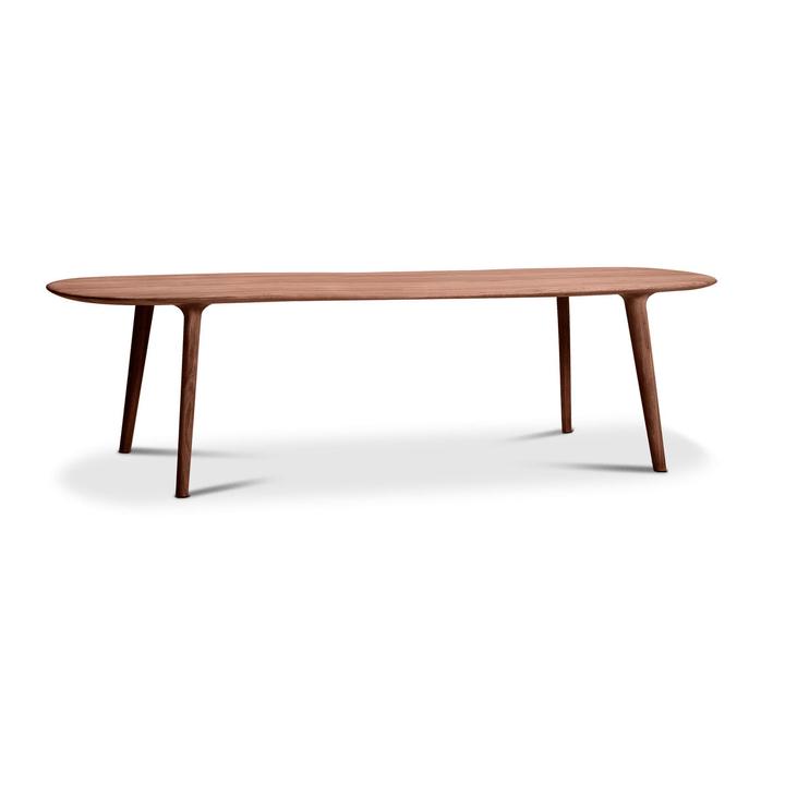 LUC Table noyer 366029824204 Dimensions L: 265.0 cm x P: 100.0 cm x H: 75.0 cm Couleur Noyer Photo no. 1
