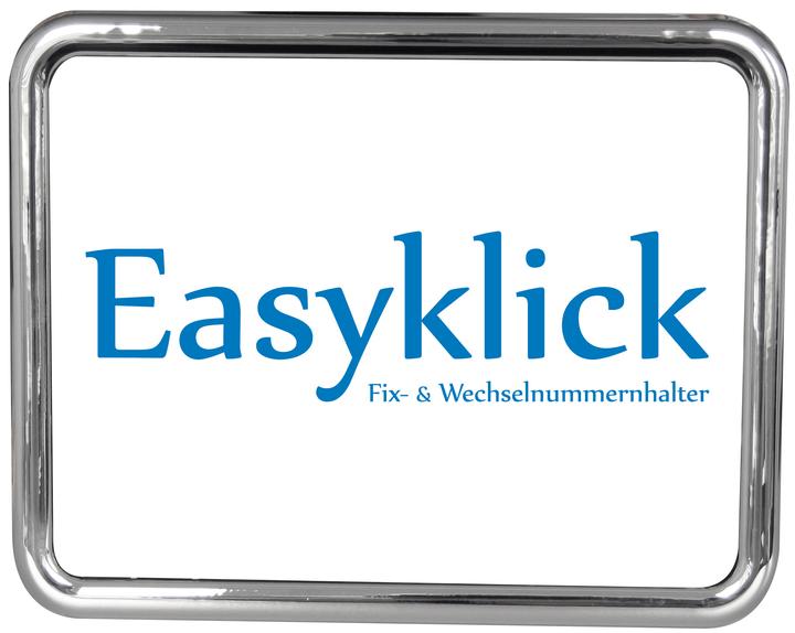 Support de plaque d'immatriculation pour moto chromé brillant Cadre pour plaque minéralogique Easyklick 620484400000 Photo no. 1
