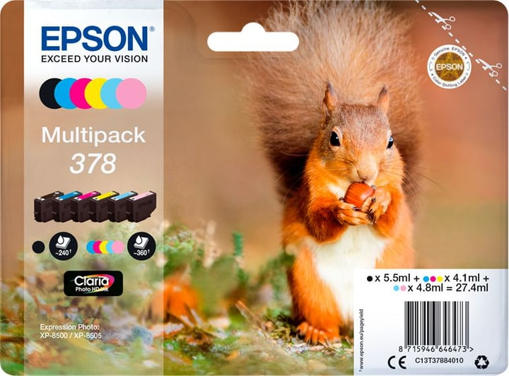 Multipack 378 cartouche d'encre Cartouche d'encre Epson 798552600000 Photo no. 1