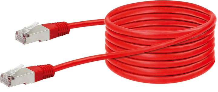 Cable de réseau STP Cat5e crossover 5m rouge Schwaiger 613185600000 Photo no. 1