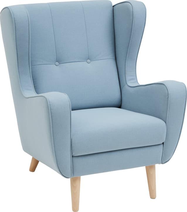 BRAHMS Fauteuil 402462607042 Dimensions L: 80.0 cm x P: 90.0 cm x H: 97.5 cm Couleur Bleu moyen Photo no. 1