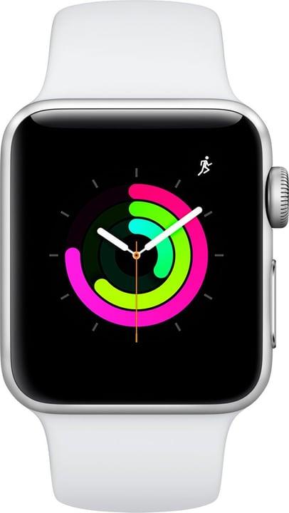 Watch Series3 GPS 38mm Silver Aluminium Case White Sport Band Smartwatch Apple 785300139126 Photo no. 1
