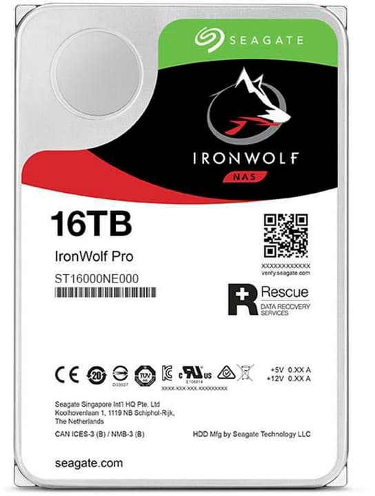 "IronWolf Pro SATA 3.5"" 16 TB Hard disk Interno HDD Seagate 785300145845 N. figura 1"