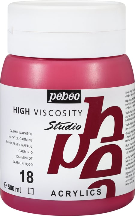 Pébéo High Viscosity Studio 500ml Pebeo 663534271018 Couleur Carmin Photo no. 1