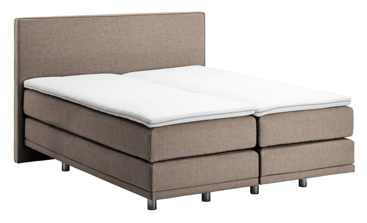 NAVIER Lit Boxspring 403486600000 Couleur Pierre Dimensions L: 160.0 cm x P: 200.0 cm Photo no. 1