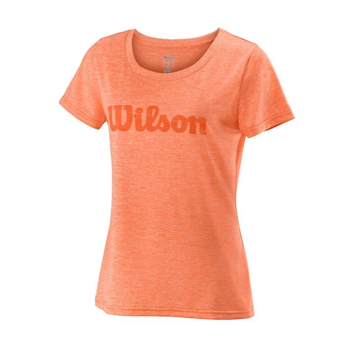 UWII SCRIPT TECH TEE Damen-T-Shirt Wilson 473222500434 Farbe orange Grösse M Bild-Nr. 1