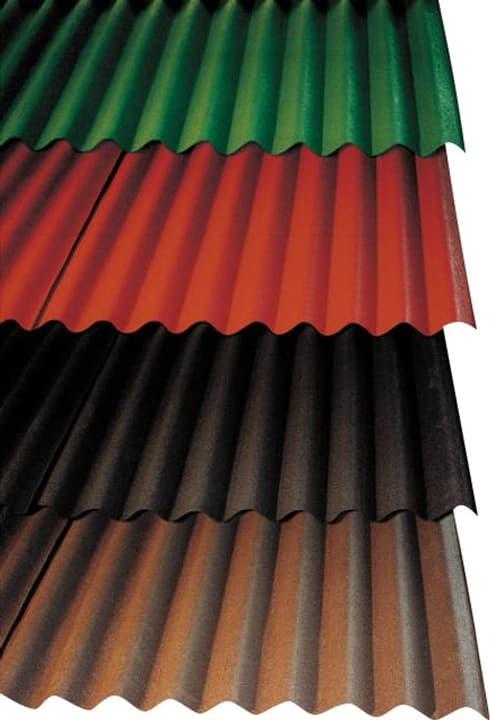 Onduline – lastre ondulate bitumate 678036800000 Colore Nero Taglio L: 200.0 cm x L: 85.5 cm x P: 3.6 cm N. figura 1
