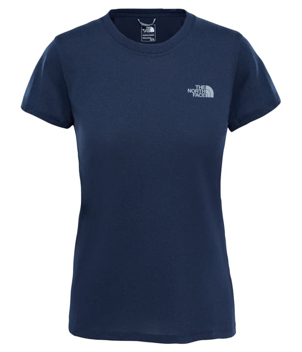 Reaxion Amp Crew T-shirt à manches courtes pour femme The North Face 462776900343 Couleur bleu marine Taille S Photo no. 1