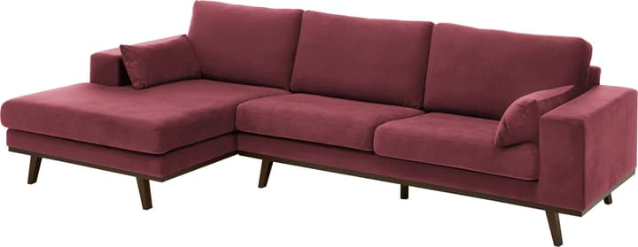 MORITZ Canapé d'angle 405741950134 Couleur Bordeaux Dimensions L: 282.0 cm x P: 154.0 cm x H: 81.0 cm Photo no. 1