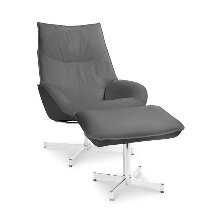 DAHLIA fauteuil et repose-pieds 360010347409 Couleur Gris Dimensions L: 73.0 cm x P: 87.0 cm x H: 104.0 cm Photo no. 1