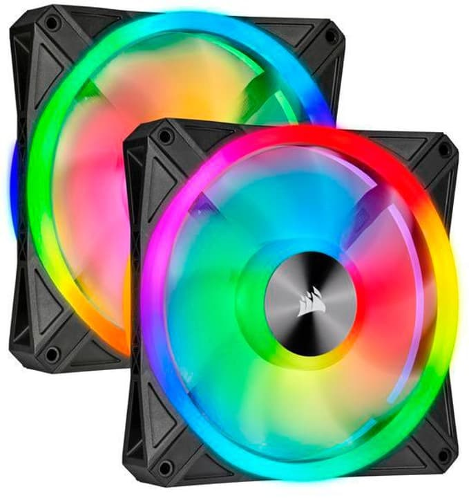 iCUE QL140 RGB PRO 2er Pack mit Lightning Node Ventilatore PC Corsair 785300150137 N. figura 1