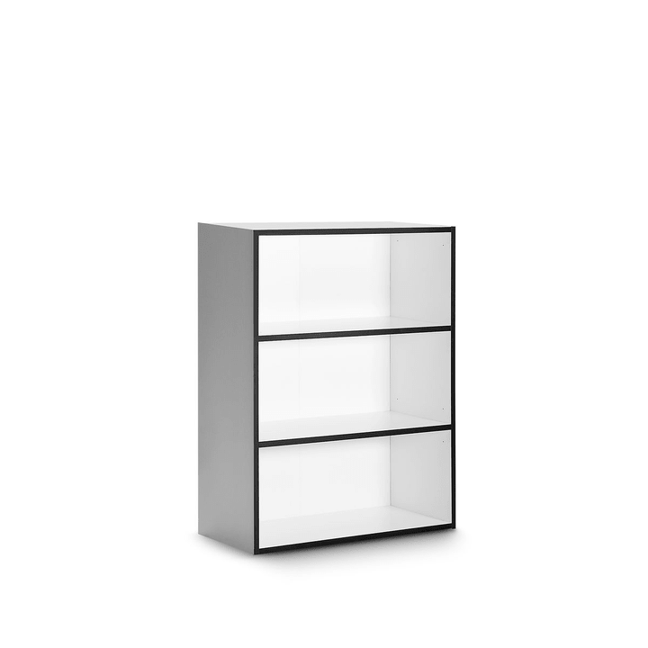 ANGELO basso bianco con bordi neri Scaffale 360979000000 Dimensioni L: 36.0 cm x P: 95.0 cm x A: 118.0 cm Colore Nero a righe N. figura 1