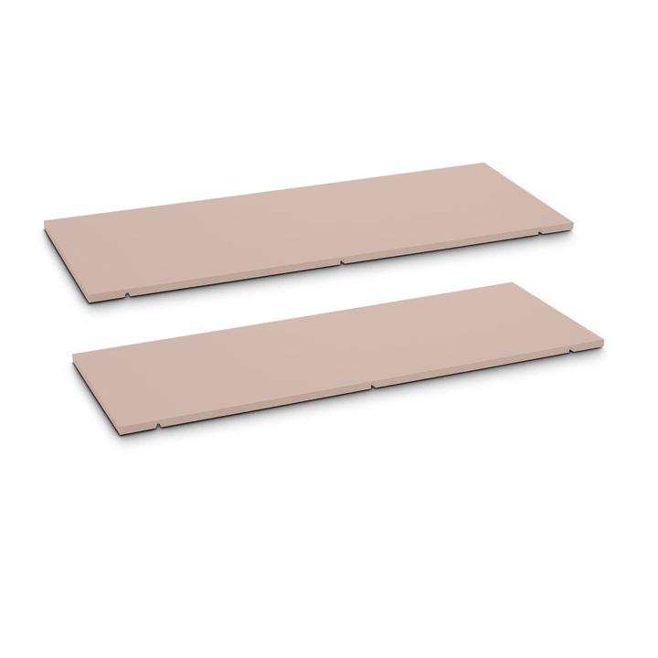 SEVEN Tablar 2er-Set 90cm 362019850004 Grösse B: 90.0 cm x T: 1.4 cm x H: 35.5 cm Farbe Rosa Bild Nr. 1