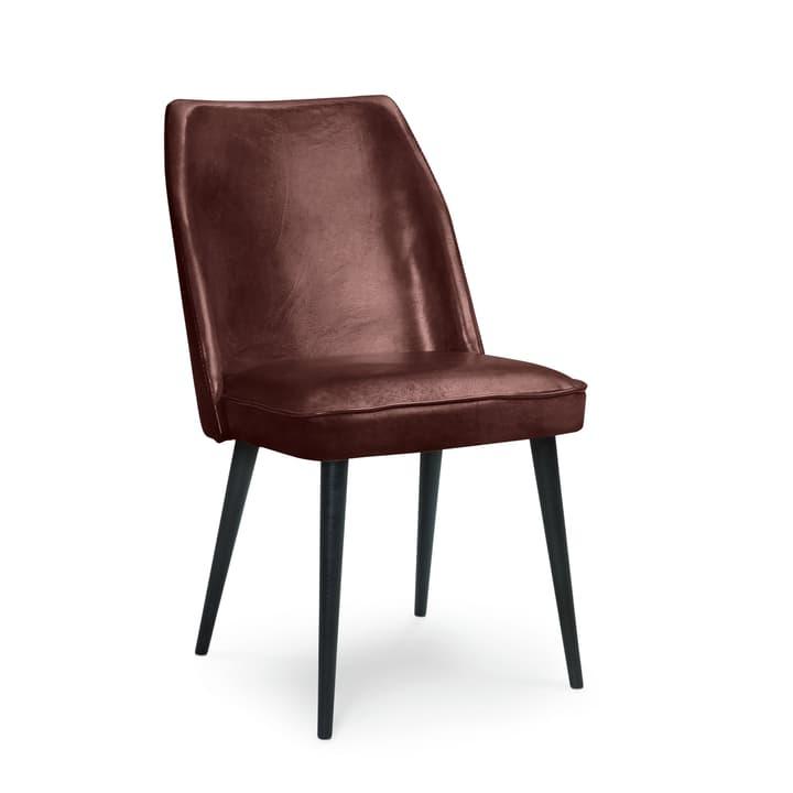 LARSSON II Chaise en cuir 366036400000 Dimensions L: 48.0 cm x P: 60.0 cm x H: 88.0 cm Couleur Brun foncé Photo no. 1