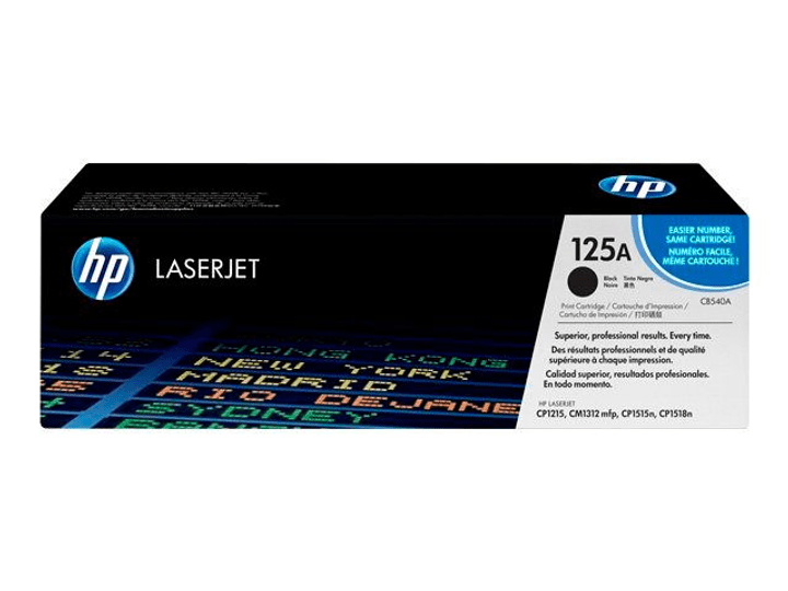 125A CB540A Toner-Modul black HP 797505200000 Photo no. 1