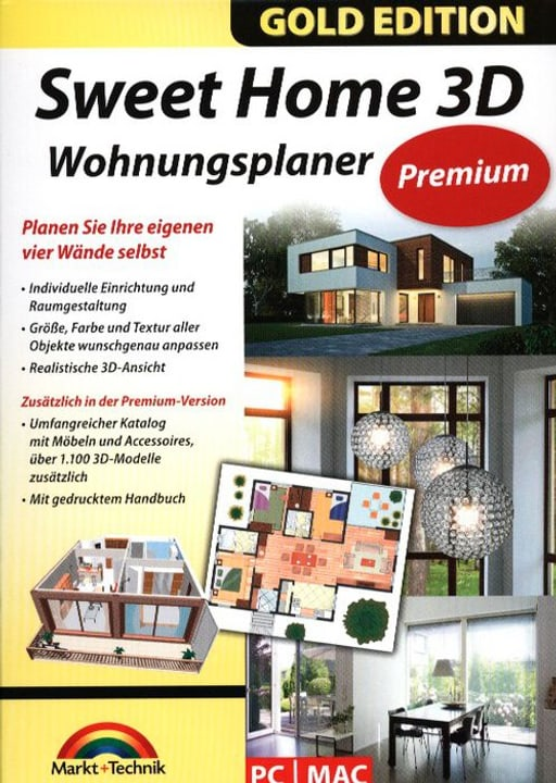 PC / MAC Gold Edition: Sweet Home 3D Wohnungsplan Physique (Box) 785300122231 Photo no. 1
