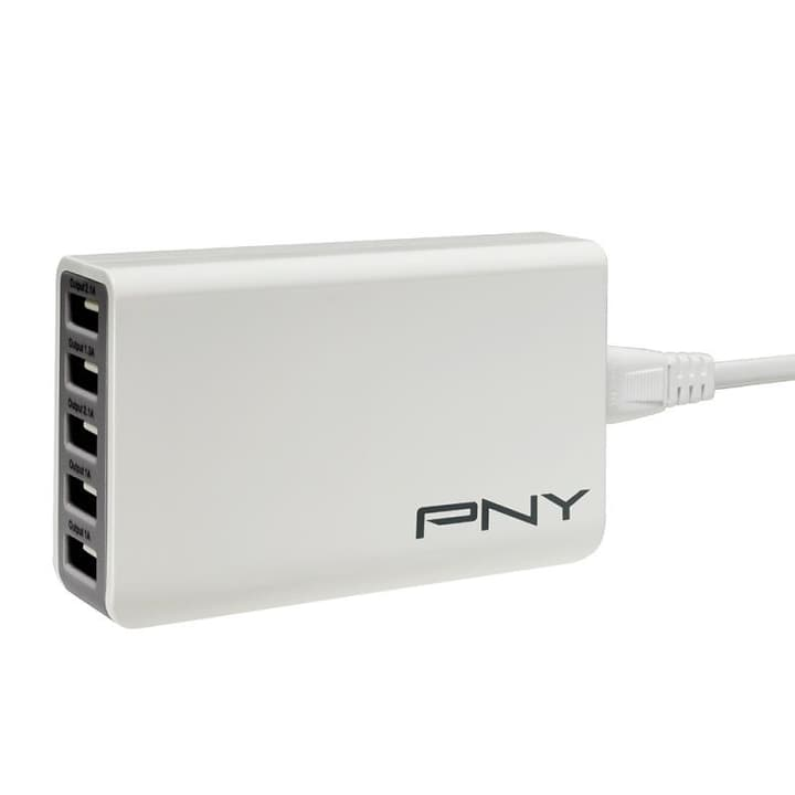 Multi USB Charger 5 Ports USB Chargeur blanc Chargeur PNY Technologies 798201400000 Photo no. 1