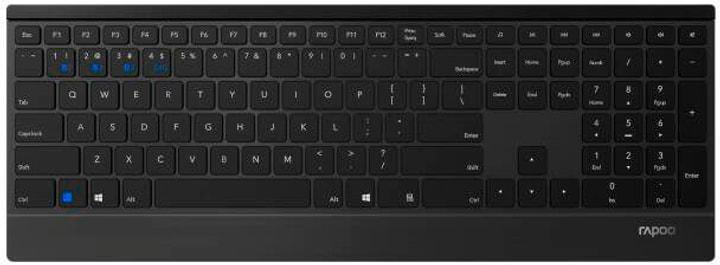 E9500M Multimode Tastatur Rapoo 785300146049 Bild Nr. 1