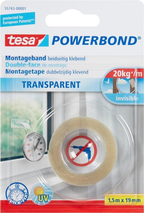 Nastro trasparente per montaggio Tesa 663059900000 Colore Transparente Taglio L: 1.5 m x L: 19.0 mm N. figura 1